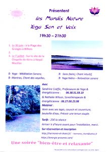 Ateliers Yoga Son et chant Noyal-Muzillac Billiers 56